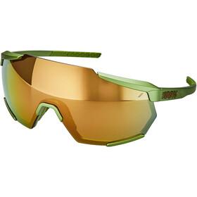 100% Racetrap Bril, matte metallic viperidae/bronze mirror